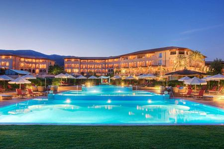 St Regis Mardavall Resort Mallorca at night