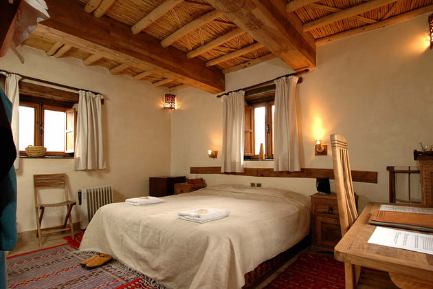 standard bedroom at Kasbah du Toubkal hotel morocoo
