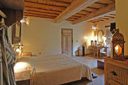 suite bedroom at Kasbah du Toubkal hotel morocoo