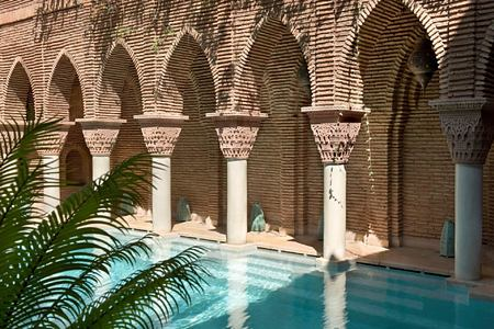 pool at la sultana hotel marrakech