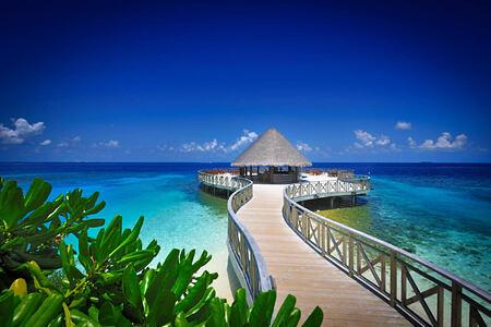 sundowners bar and cafe at Bandos Island Resort Maldives