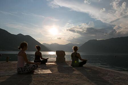 sunrise yoga at palazzo radomiri hotel montenegro