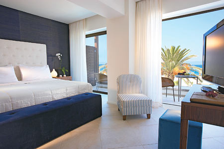 superior guestroom sea view at Amirandes Crete