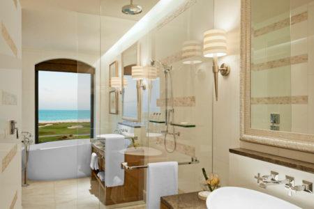 superior sea view bathroom at st regis island resort abu dhabi