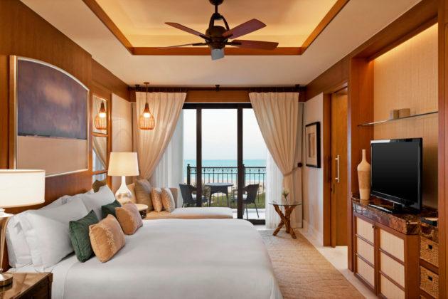superior sea view bedroom at st regis island resort abu dhabi