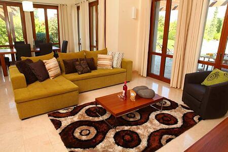 superior villa living space at aphrodite hills hotel cyrpus