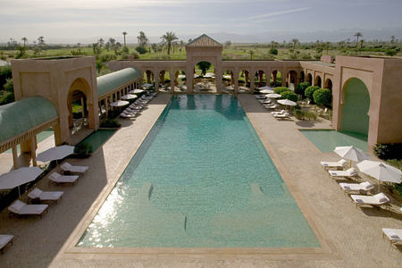 swimming pool at amanjena resort morocco