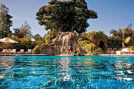 swimming pool at hotel botanico tenerife