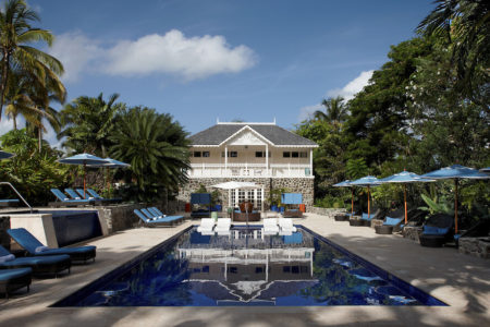 swimming pool at rendezvous resort st lucia caribbean