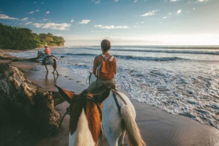 tour the beaches on horseback at latitude 10 costa rica
