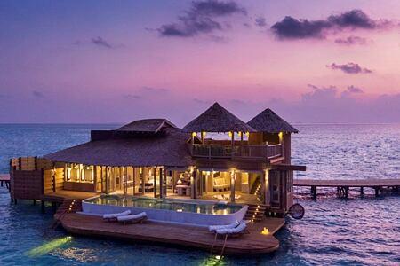 twilight at soneva jani beach resort
