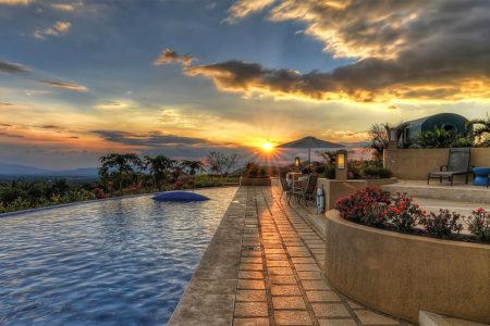 twlight view at xandari resort and spa costa rica
