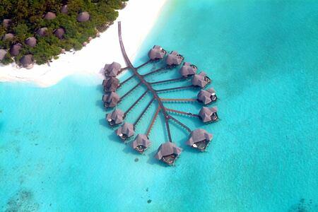 aerial view at coco palm dhuni kolhu resort maldives