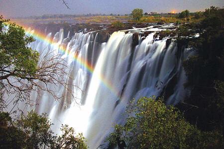 victoria falls at tongabezi hotel zambia