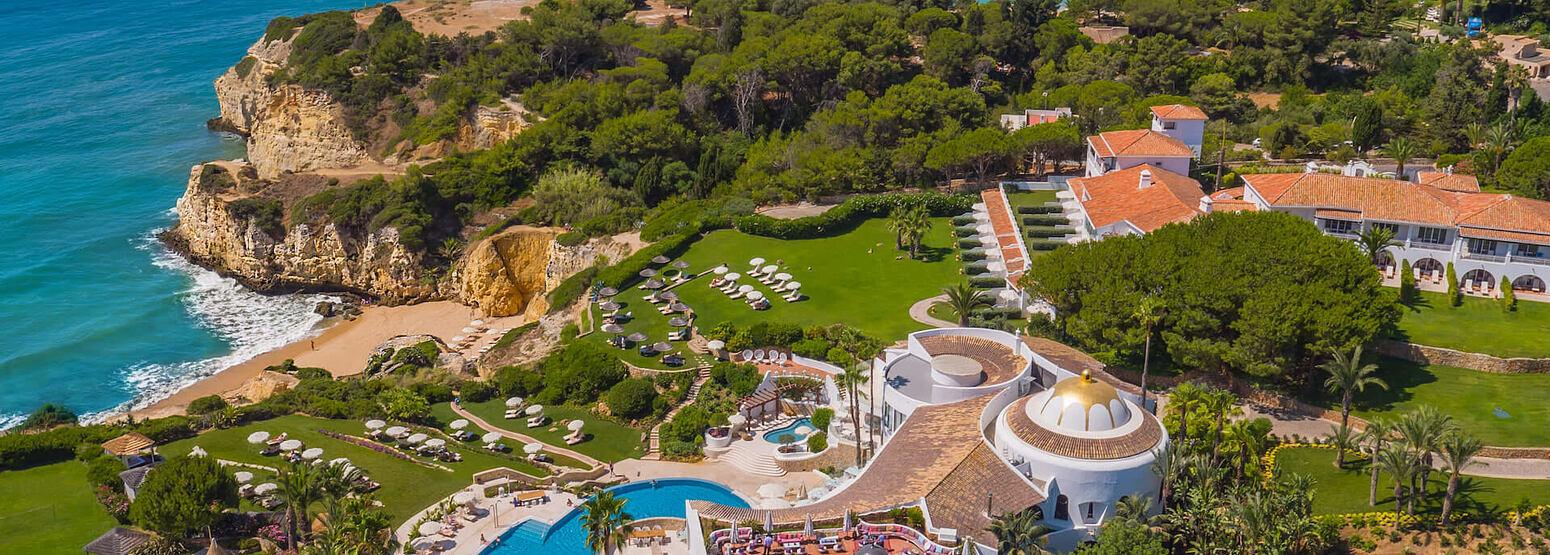 aerial view of vila vita parc hotel portugal