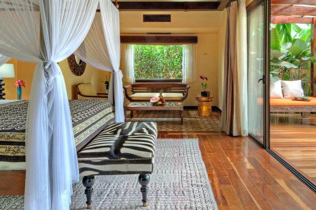 villa bedroom and terrace at nayara springs hotel costa rica