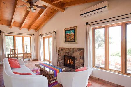 villa studio living room at rancho la puerta spa retreat mexico
