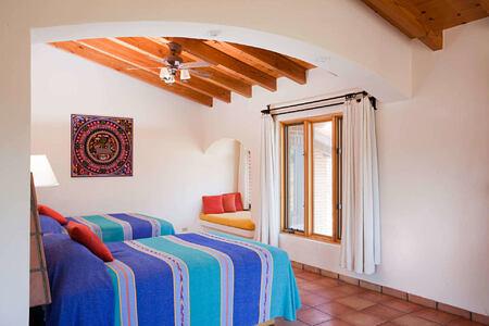 villa studio twin bedroom at rancho la puerta spa retreat mexico