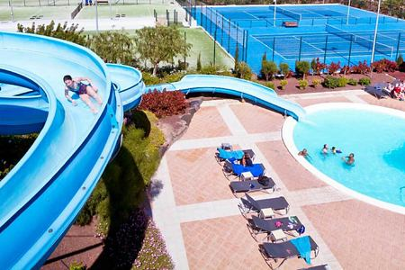 water slide and childrens pool at playitas resort canary islands