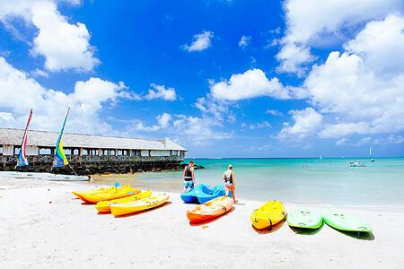 water sports at st james morgan bay resort caribbean