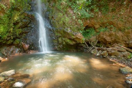 waterfall in the grounds at xandari resort and spa costa rica