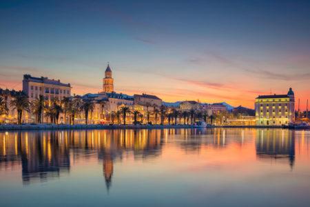 waterfront at split at sunrise at hotel ola croatia