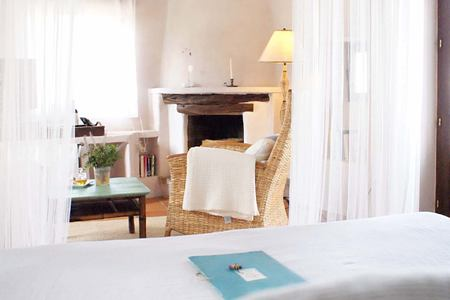 white bedroom at Es Cucons hotel