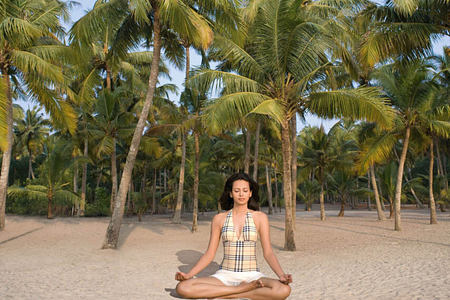 beach meditation at Carnoustie Ayurveda & Wellness Resort
