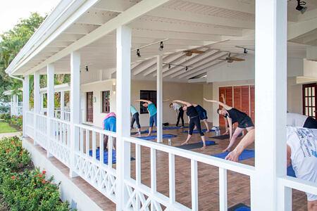 yoga at st james morgan bay resort caribbean