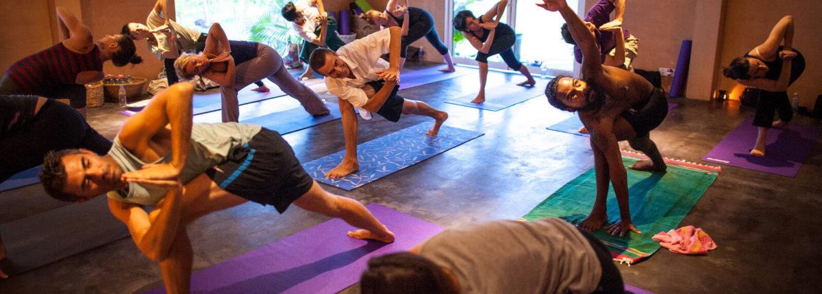 yoga class at navutu dreams resort cambodia