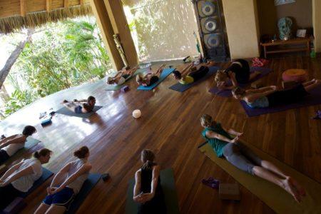 yoga class at flor blanca resort costa rica
