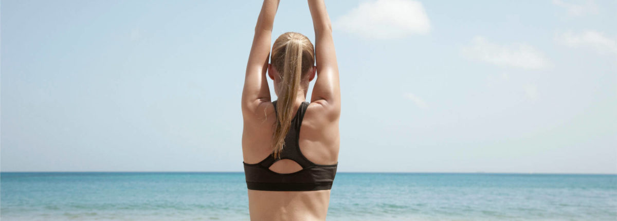 yoga on the beach at rendezvous resort st lucia caribbean