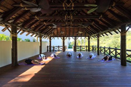 yoga pavillion at Shanti Som Spain