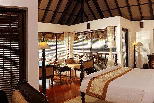 zukra pool villa interior at Carnoustie Ayurveda & Wellness Resort