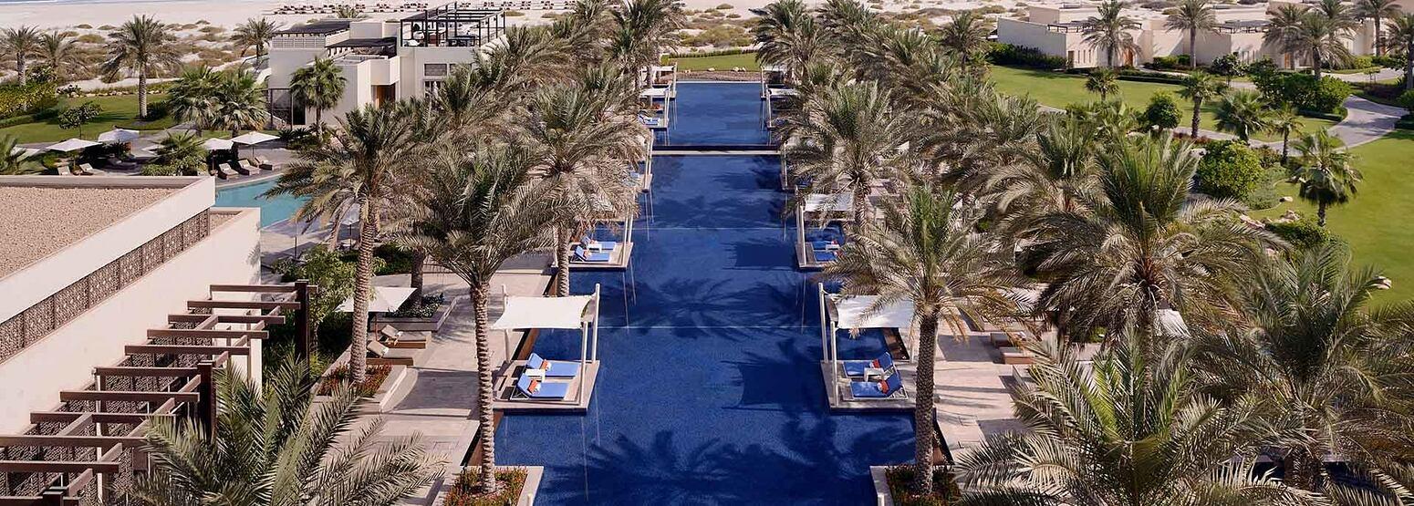Aerial View along the pools at the Park Hyatt Abu Dhabi
