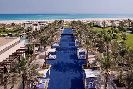 Aerial View along the pools at the Park Hyatt Abu Dhabi