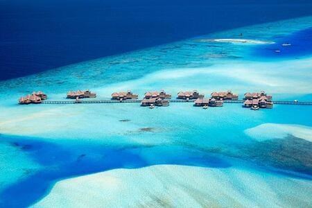 Aerial View of Jetty 3 at Gili Lankanfushi Maldives
