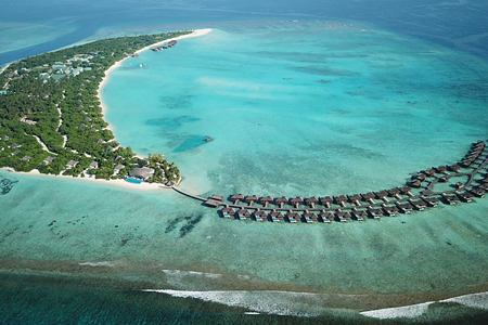 Aerial View of at Hideaway Beach Resort Maldives
