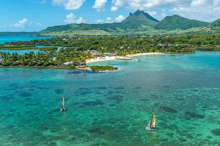 Aerial view of Anahita Mauritius