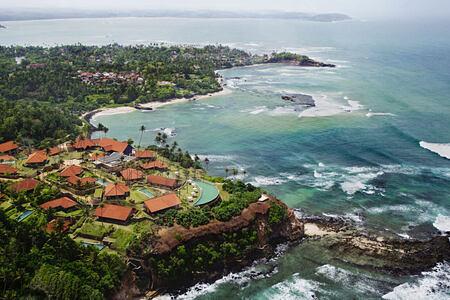 Aerial view of Cape Weligama Sri Lanka