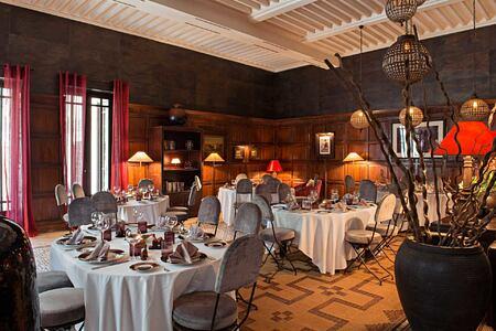 Banqueting hall at Villa des Oranges Morocco