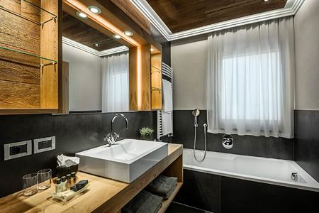 Bathroom at Hotel La Majun Italy