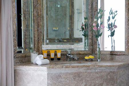 Bathroom in Deluxe room at Villa Padierna Spain