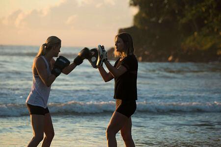 Beach Boxing at Talalla Retreat Sri Lanka