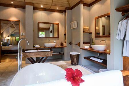 Beach Villa Bathroom at Denis Private Island Seychelles