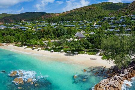 Beachfront at Raffles Praslin Seychelles