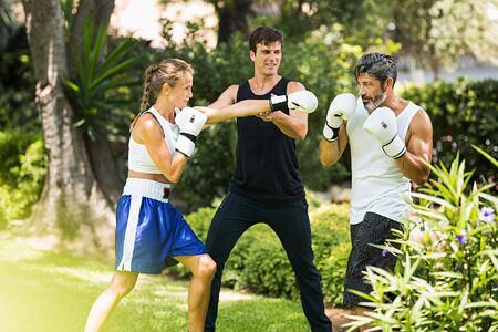 Boxing at Marbella Beach Club Spain