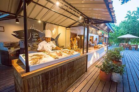 Buffetseafood delights at reethi beach resort maldives
