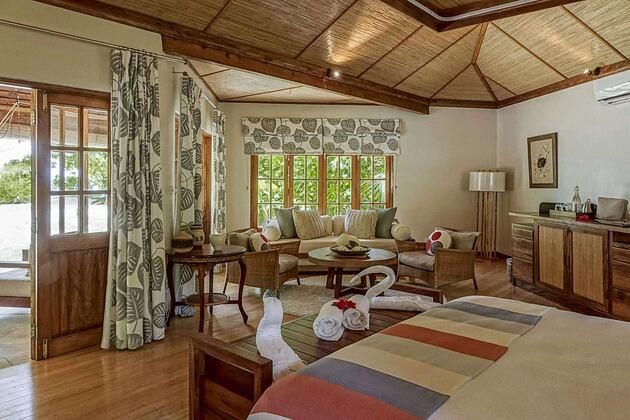 Cottage Interior at Denis Private Island Seychelles
