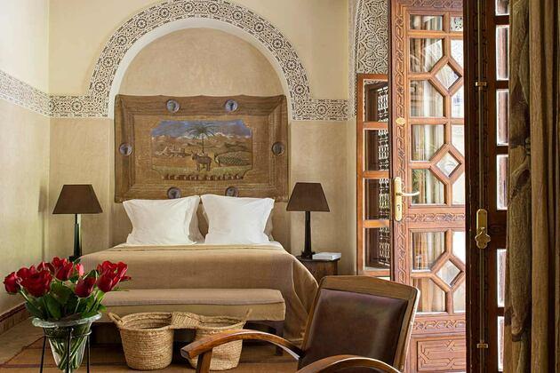 Double deluxe room at Villa des Oranges Morocco